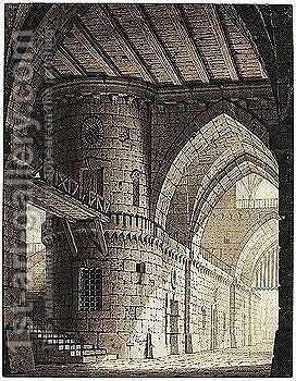 Interior Of A Fortress by Giulio Quaglio - Reproduction Oil Painting