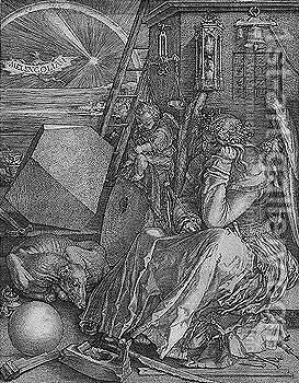 Melencolia by Albrecht Durer - Reproduction Oil Painting