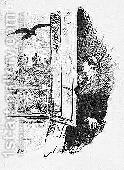 Stephane Mallarme le Corbeau by Edouard Manet - Reproduction Oil Painting