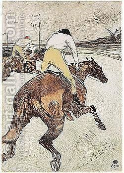 Le jockey by Toulouse-Lautrec - Reproduction Oil Painting
