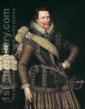 Portrait Of Sir James Henderson Of Fordell by (after) Anthony Van Ravesteyn - Reproduction Oil Painting