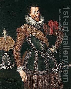 Portrait Of Sir Francis Henderson (D.1622), Governor Of Namur by (after) Anthony Van Ravesteyn - Reproduction Oil Painting