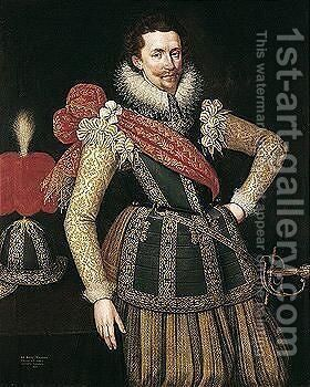 Portrait Of Sir Robert Henderson Of Fordell by (after) Anthony Van Ravesteyn - Reproduction Oil Painting