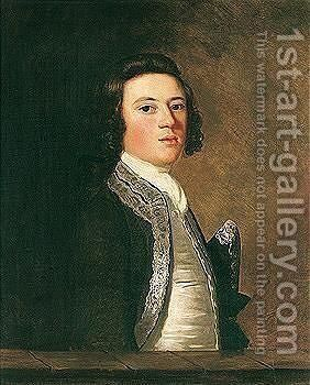 Portrait Of Paul Henry Ourry (1718-1783) by Sir Joshua Reynolds - Reproduction Oil Painting