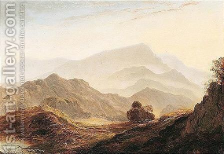 View From Loughrigg Of Wetherlam And Coniston Mountains, Ambleside by Anthony Vandyke Copley Fielding - Reproduction Oil Painting