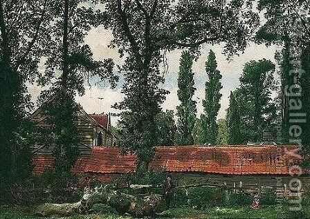 Millfield lane, highgate by Edgar Rowley Smart - Reproduction Oil Painting