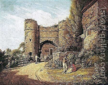 Strand Gate, Winchelsea by Michael Angelo Rooker - Reproduction Oil Painting