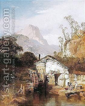 A Welsh Mill by James Baker Pyne - Reproduction Oil Painting