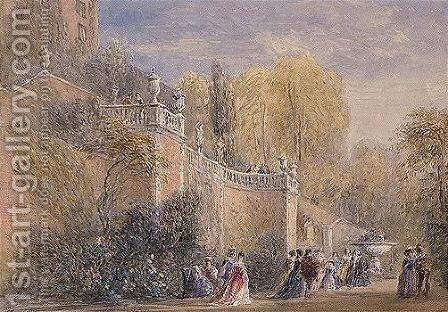Powis Castle, Wales by David Cox - Reproduction Oil Painting