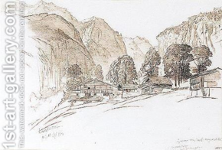Lauterbrunnen, Switzerland by Edward Lear - Reproduction Oil Painting