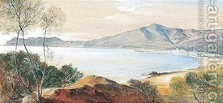 Alassio, Gulf Of Genoa by Edward Lear - Reproduction Oil Painting