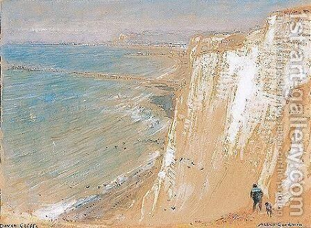 Dover Cliffs by Albert Goodwin - Reproduction Oil Painting