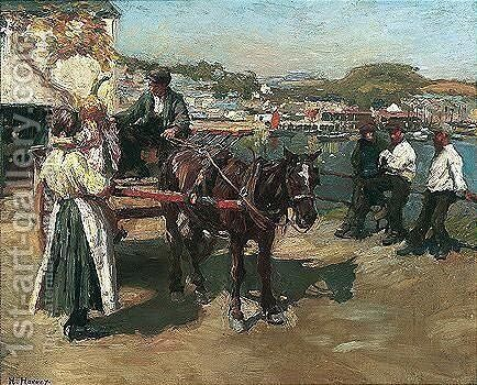 On The Quayside by Harvey Harold - Reproduction Oil Painting