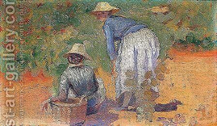 Fruit pickers by Henri Edmond Cross - Reproduction Oil Painting