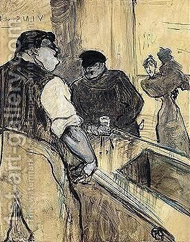 Property Of A Private European Collector L'Assommoir by Toulouse-Lautrec - Reproduction Oil Painting
