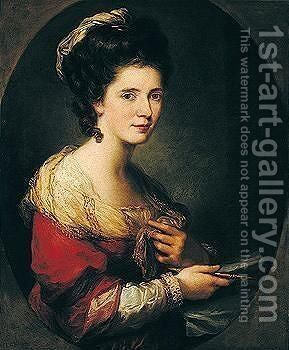 Self-portrait 5 by Angelica Kauffmann - Reproduction Oil Painting