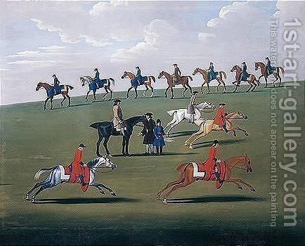Training On Newmarket Heath by James Seymour - Reproduction Oil Painting
