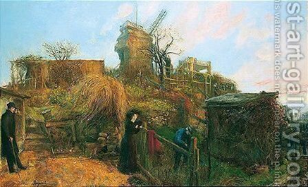 Fra Montmartre by Hans Olaf Heyerdahl - Reproduction Oil Painting
