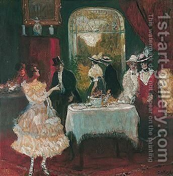 The Dinner Party by Antal Berkes - Reproduction Oil Painting