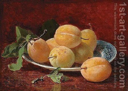 Still Life With Plums by Eloise Harriet Stannard - Reproduction Oil Painting