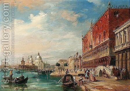 Santa Maria Della Salute From The Doge's Palace, Venice by Edward Pritchett - Reproduction Oil Painting