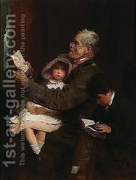 The Story by James John Hill - Reproduction Oil Painting