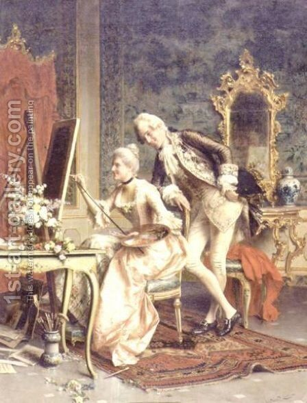 The Critic by Arturo Ricci - Reproduction Oil Painting