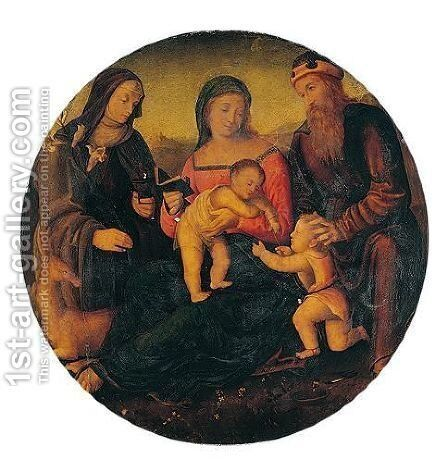The holy family by Italian Unknown Master - Reproduction Oil Painting