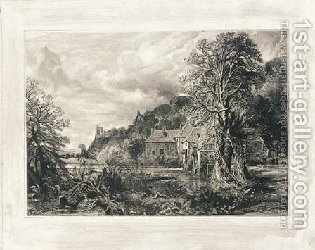 Arundel Mill And Castle by David Lucas - Reproduction Oil Painting
