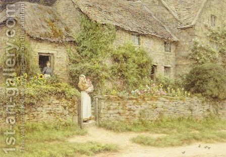 Whittington, Gloucestershire by Helen Mary Elizabeth Allingham, R.W.S. - Reproduction Oil Painting