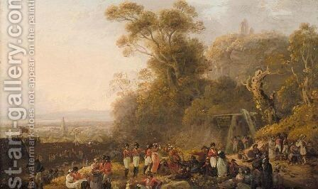 Rear of the camp by Andrew Wilson - Reproduction Oil Painting