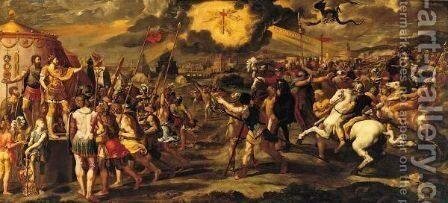 The Vision Of The True Cross by (after) Raphael (Raffaello Sanzio of Urbino) - Reproduction Oil Painting