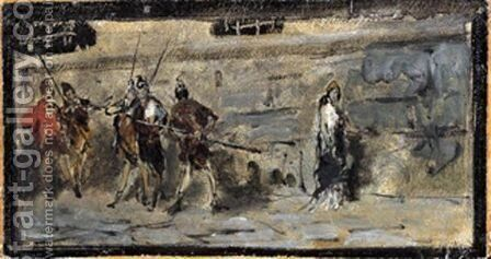 Soldati by Domenico Morelli - Reproduction Oil Painting