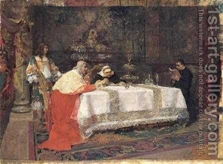 Il Pranzo Del Cardinale by Giulio Cervi - Reproduction Oil Painting