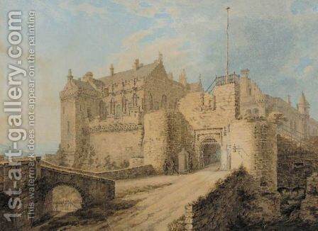 A castle by - Unknown Painter - Reproduction Oil Painting