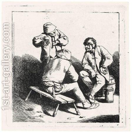 The Three Drinkers (Holl.29) by Cornelis (Pietersz.) Bega - Reproduction Oil Painting
