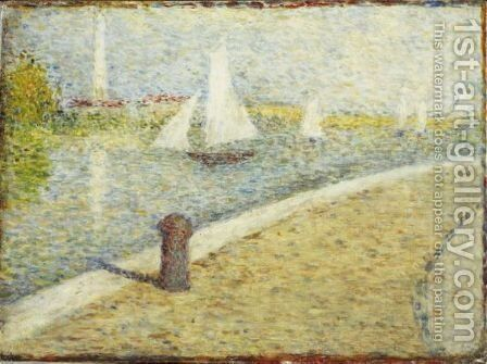 Le Port De Gravelines by Ecole Francaise, Xixeme Siecle - Reproduction Oil Painting