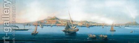 Panorama Di Napoli by Italian School - Reproduction Oil Painting