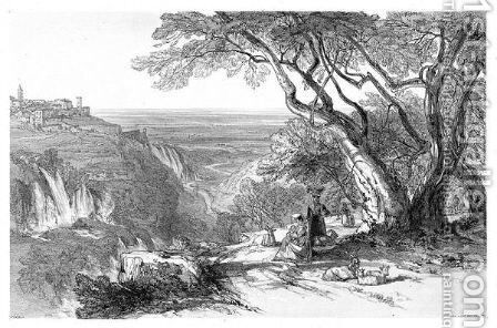 Views In Rome And Its Environs. Drawn From Nature And On Stone. London T.M. Lean, 1841 by Edward Lear - Reproduction Oil Painting