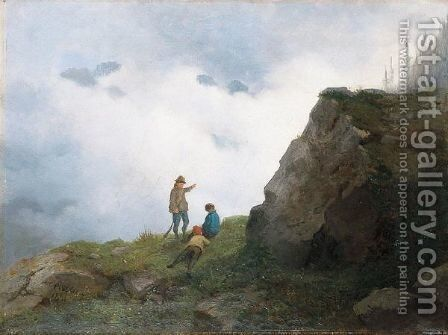 Passeggiata In Montagna by Carlo Piacenza - Reproduction Oil Painting
