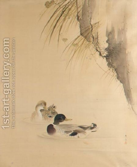Ducks by Takahashi Oshin - Reproduction Oil Painting
