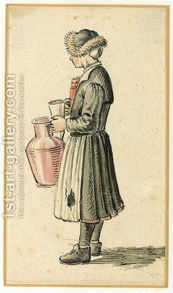 A Milkmaid by Hendrick Avercamp - Reproduction Oil Painting