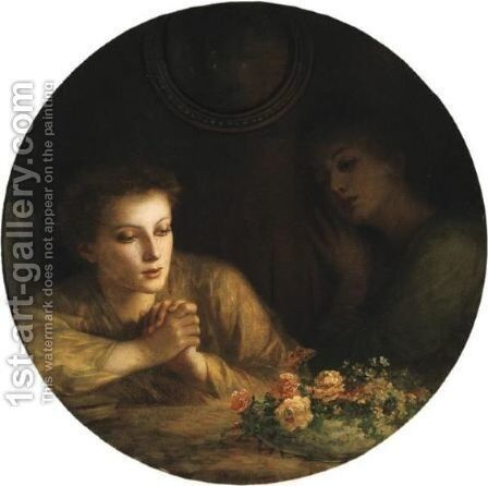 Mourning And Melancholia by Charles Zacharie Landelle - Reproduction Oil Painting