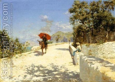 Sole Di Capri by Augusto Lovatti - Reproduction Oil Painting