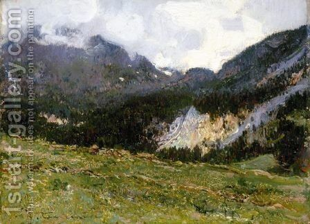 Paesaggio Montano by Andrea Tavernier - Reproduction Oil Painting