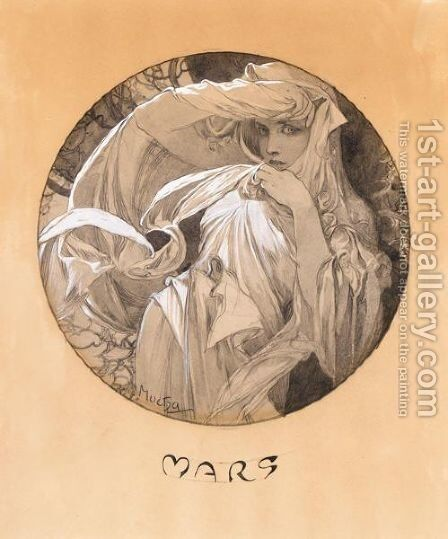 Mars by Alphonse Maria Mucha - Reproduction Oil Painting