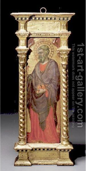 Standing Male Saint by Benedetto Di Bindo - Reproduction Oil Painting