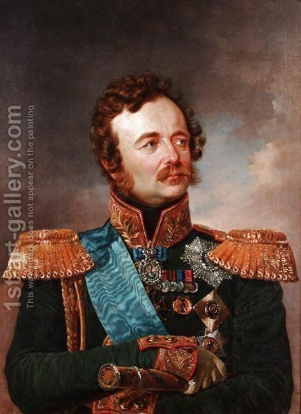 Portrait Of Fieldmarshal Paskevich by (after) Franz Kruger - Reproduction Oil Painting