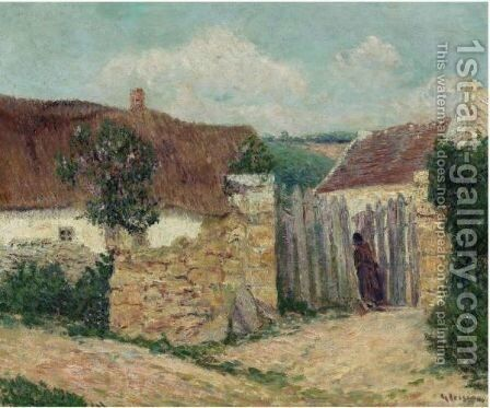 Maison Dans Le Village by Gustave Loiseau - Reproduction Oil Painting