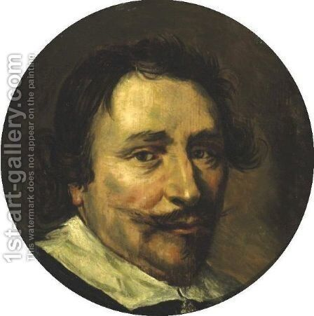 Portrait Of A Gentleman by (after) Frans Hals - Reproduction Oil Painting